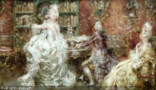 Испанский художник Juan Pablo Salinas (1871-1946) (47 работ)