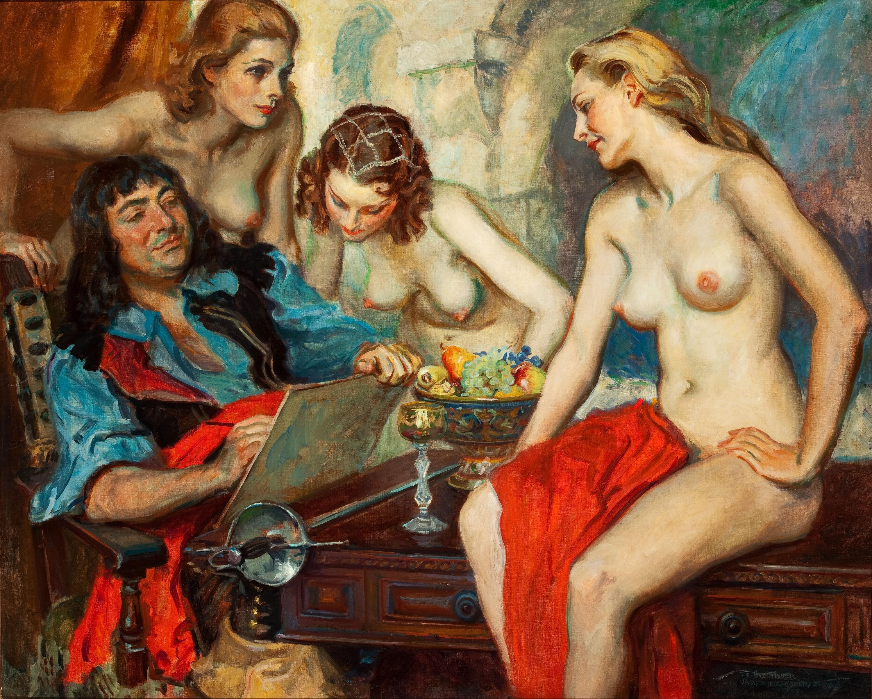 Художник рисует голую девушку 13 фотография