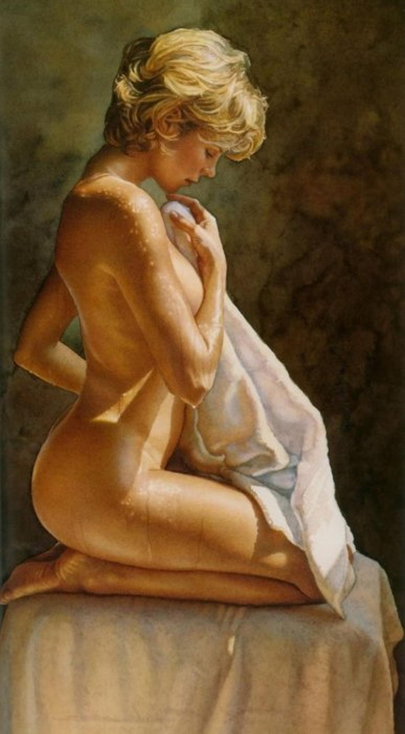 Художник рисует голую натурщицу 17 фотография