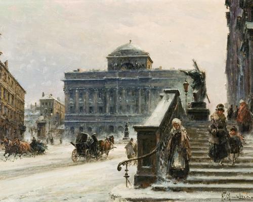 Городские пейзажи Wladyslaw Chmielinski (108 работ)