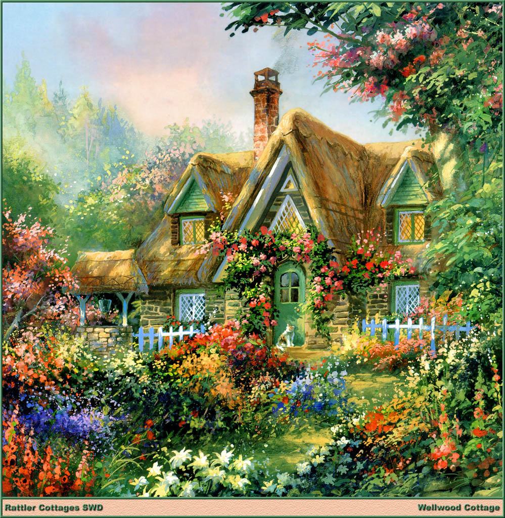 Jim mitchell 40 for Classic house with flower garden