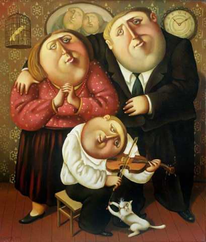 Планета толстяков Бориса Иванова. (323 работ)