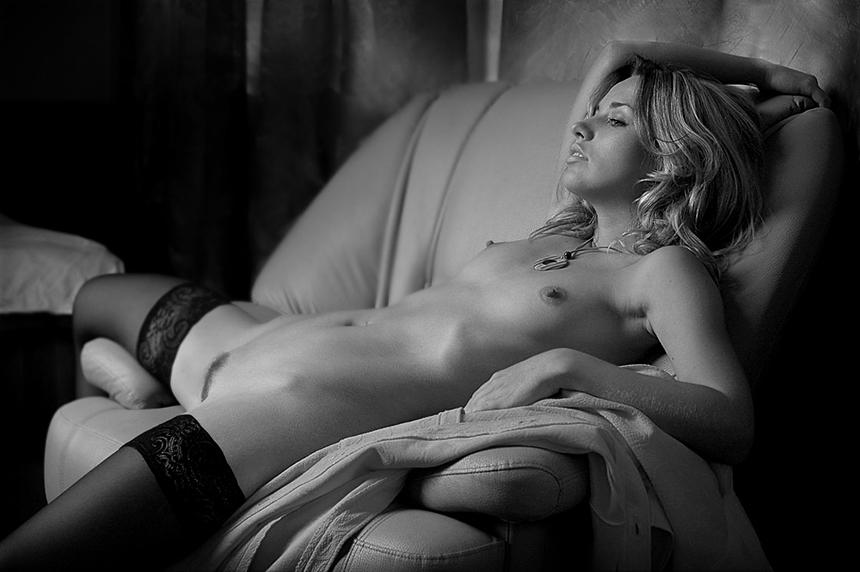 фото художественная черно белая эротика
