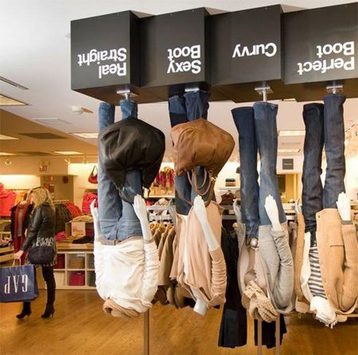 фото рекламы на торговых точках с одеждой настолько восхитительны, что