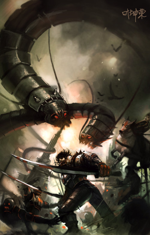 Работы в стиле фэнтези и sci-fi разных авторов (Miscellanious Fantasy & Sci-Fi Art) (255 работ)