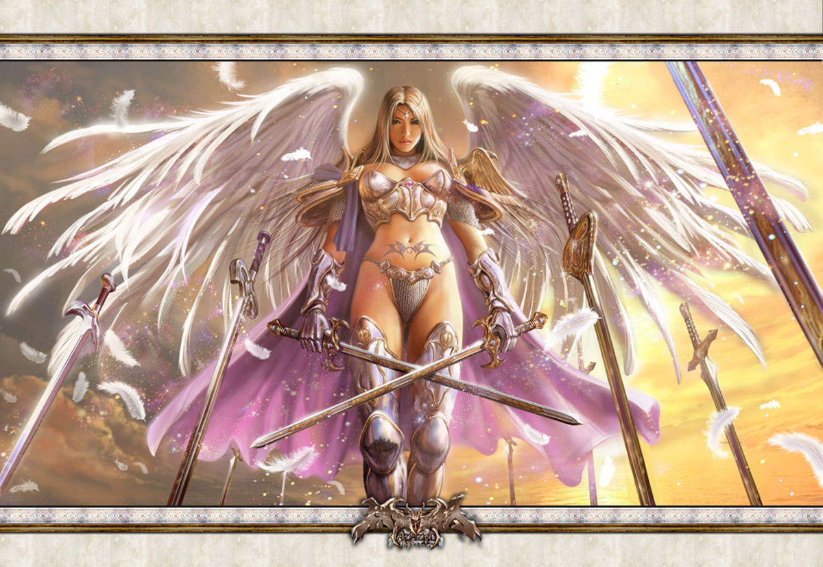 Naked women warriors and angels fantasy hentai images
