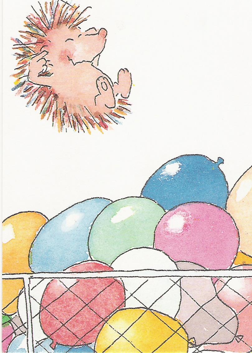 Ежик с днем рождения открытки 100