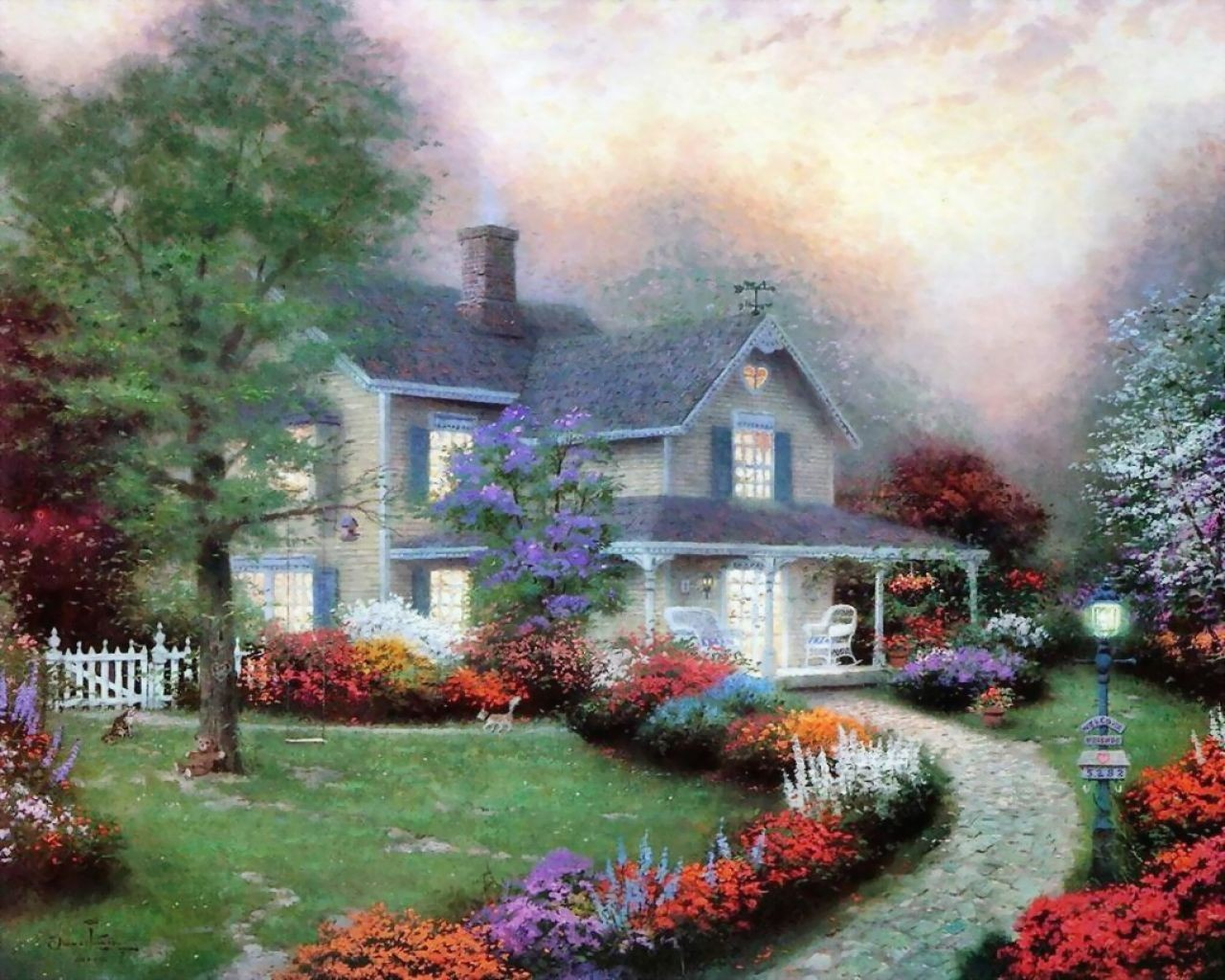 Old painted cottage