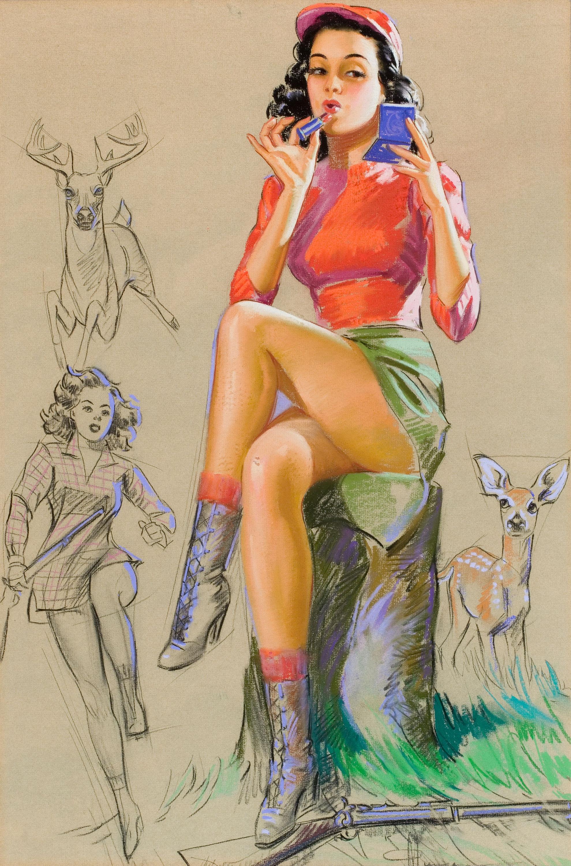 Рыжая девушка в стиле пип гел 21 фотография
