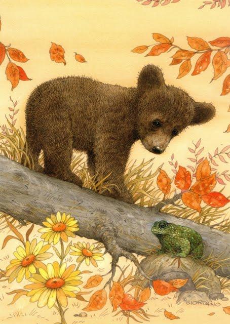 Открытки с рисунками медвежат