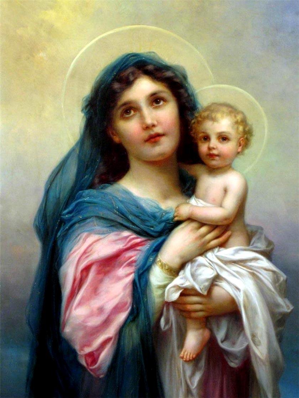 """Оригинал - Схема вышивки  """"Мадонна с младенцем """" - Схемы автора  """"Axlamonka """" - Вышивка крестом."""