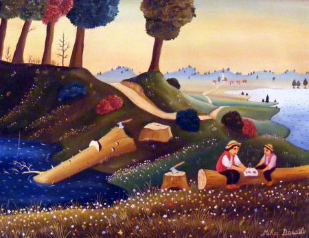 Михай Даскалу – современный румынский художник-наивист (24 работ)
