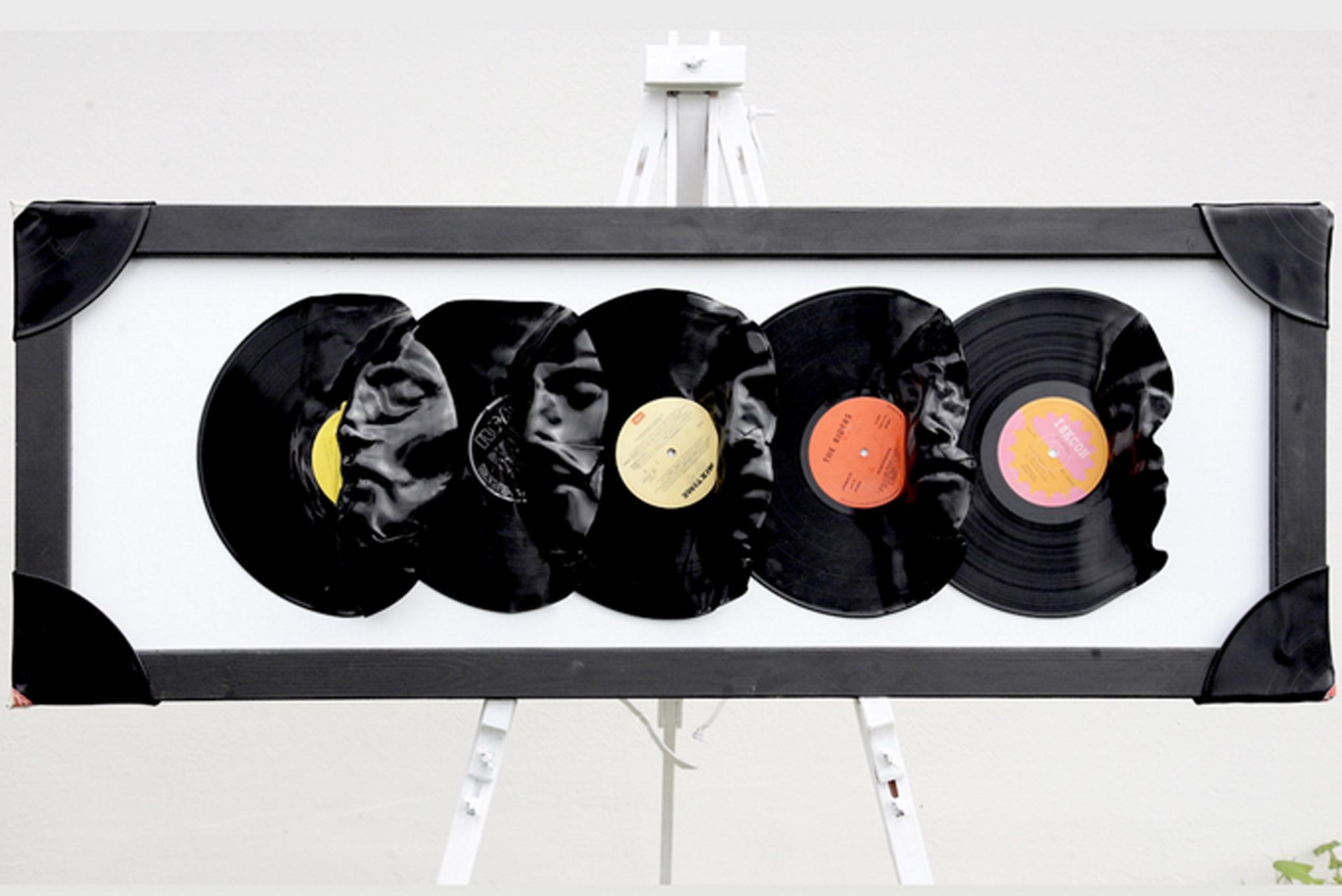 Как сделать горшки для цветов из виниловых пластинок своими 83