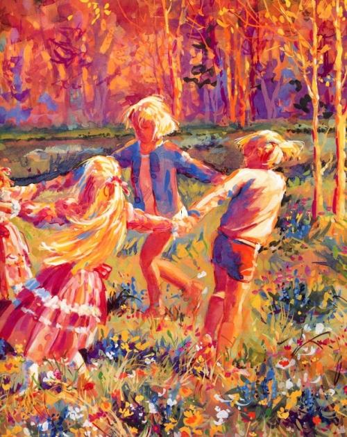 Художница Джессика Земский. Солнечные дети (50 работ)