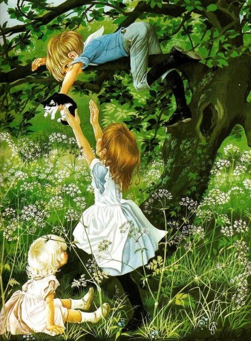 Художники-иллюстраторы Джанет и Энн Грэм Джонстоун (Janet and Anne Graham Johnstone) (175 работ)