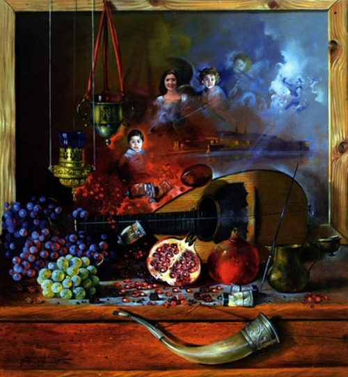 Still Life Oil Paintings by Dusan Jovanovic (19 работ)