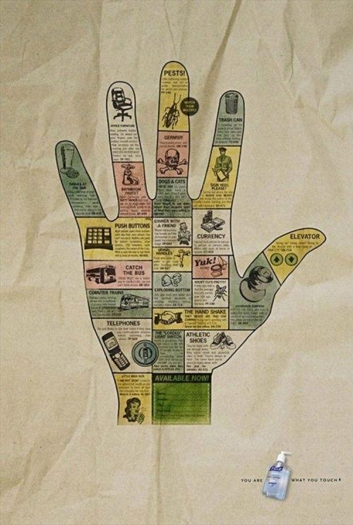 Раскрашенные руки в рекламе (32 работ)