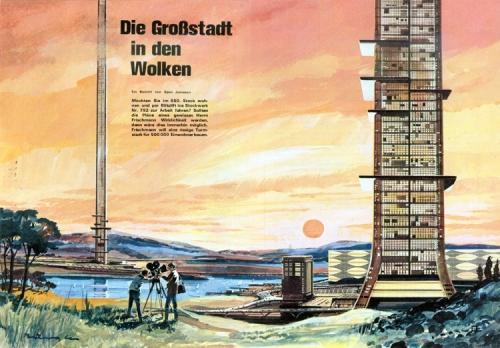 Клаус Бюргл. Немецкий ретрофутуризм в книжной и журнальной иллюстрации