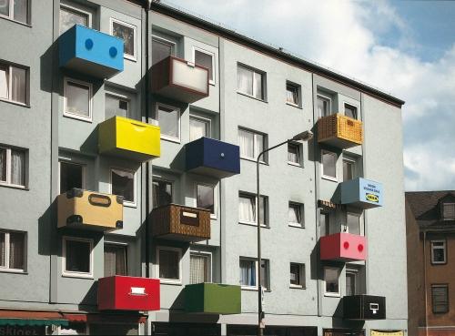 Креативная реклама на домах (34 работ)