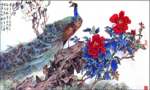 Peacocks in painting (60 работ)