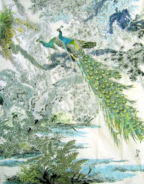 Павлины в живописи (60 работ)