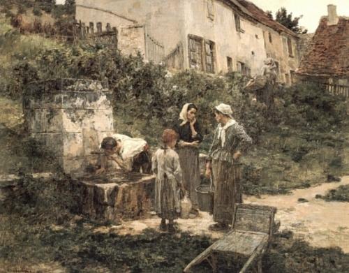 Художник Leon-Augustin Lhermitte (1844-1925) (67 работ)