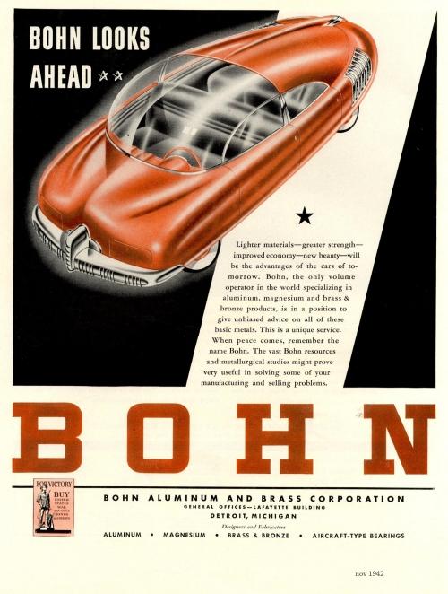 Ретрофутуризм в корпоративной рекламе. Bohn Aluminium & Brass Corporation (57 работ)