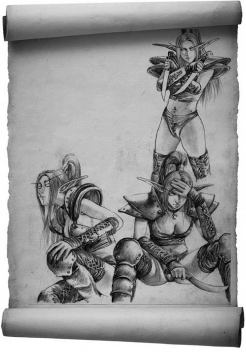Арт и 3d фентези от художника Ву Шуанг (Wu Shuang) (90 работ)