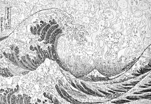 Каляки-маляки по-японски. Картины Сагаки Кейта (Sagaki Keita), нарисованные рисунками (41 работ)