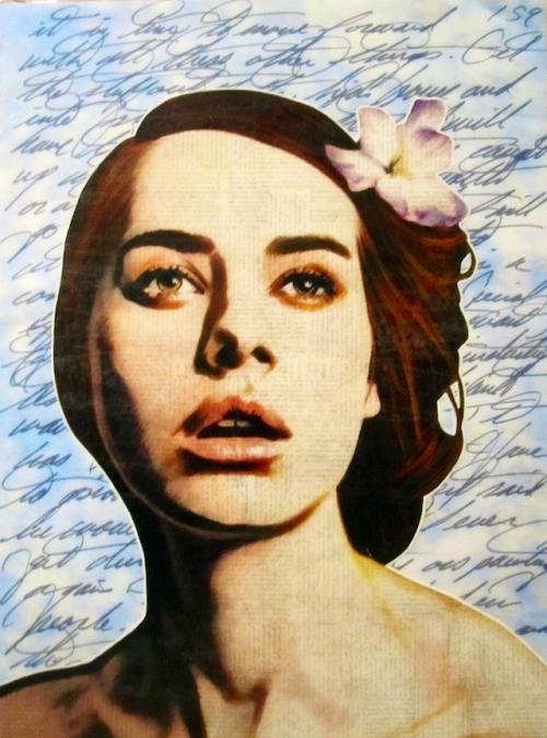 Delicate Newspaper Portraits by Annie Terrazzo (13 работ)