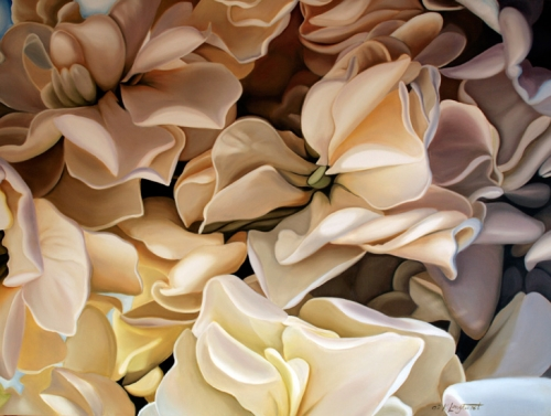 Девушки и цветы от Katrin Longhurst (178 работ)