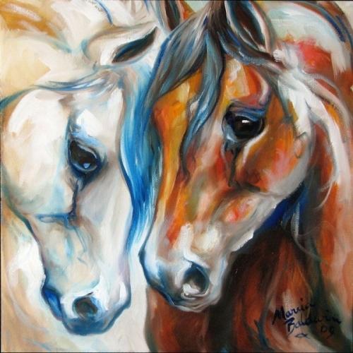 Лошадки... Художница Marcia Baldwin (94 работ)