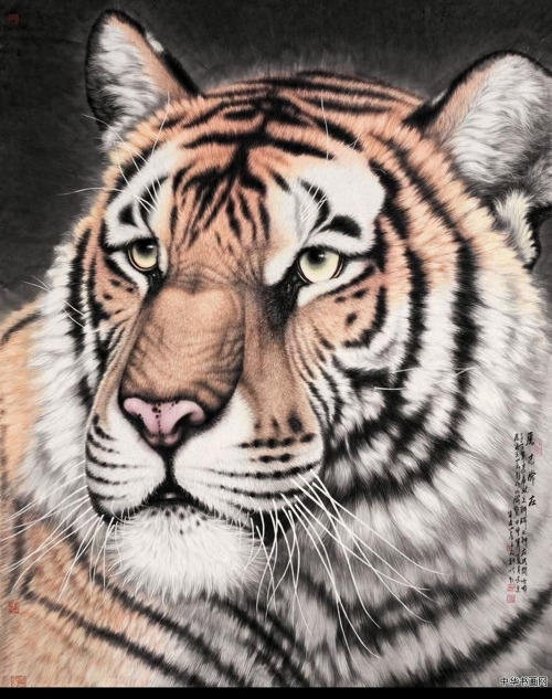 Художник Meng Xiangshun. Тигры (11 работ)