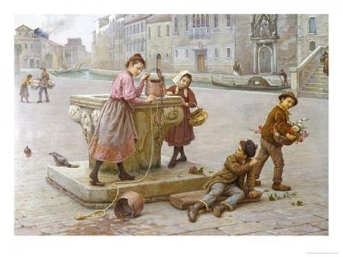 Итальянский художник Antonio Ermolao Paoletti (1834 - 1912) (64 работ)