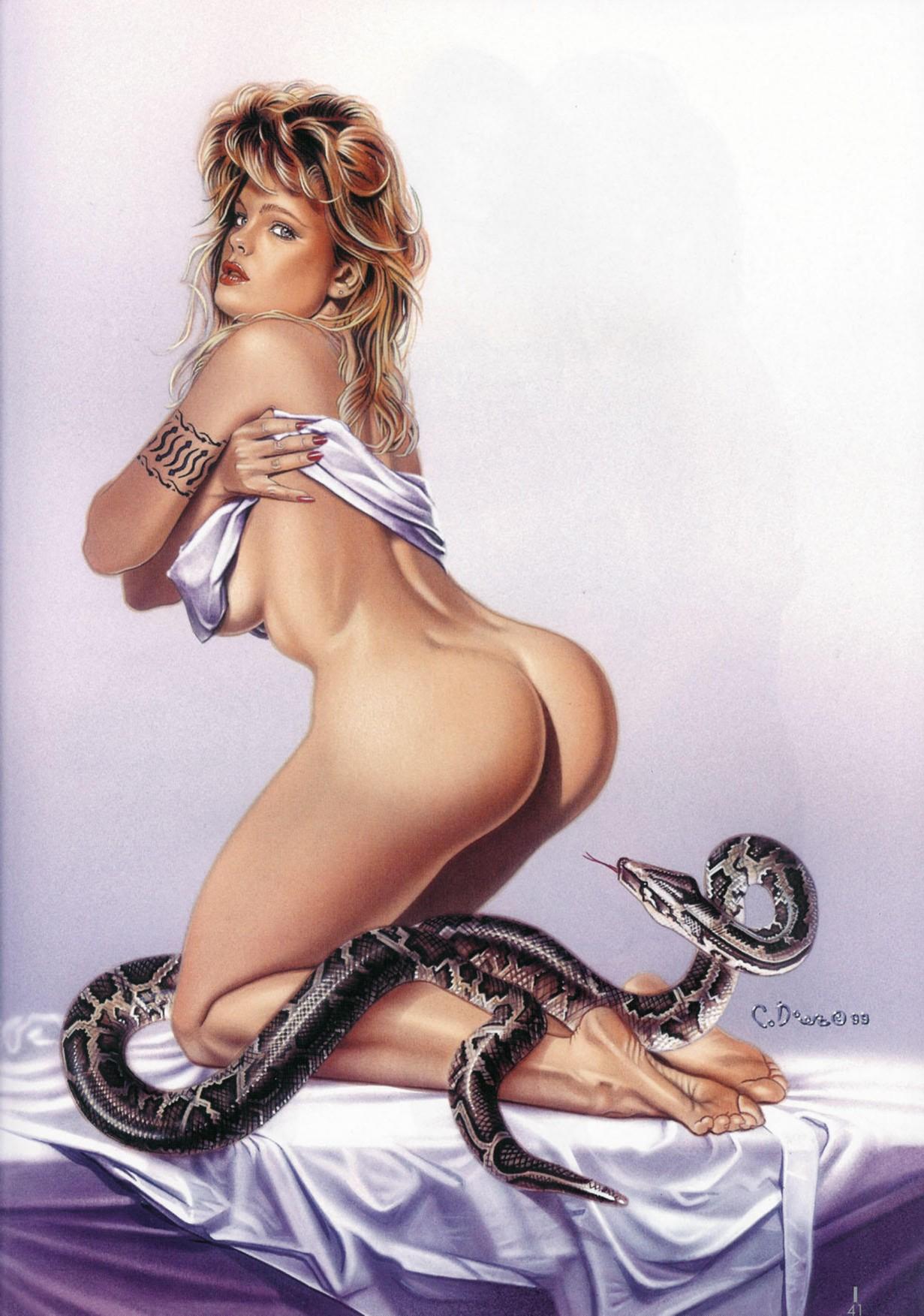Рисованные картинки девушек фэнтези порно 20 фотография