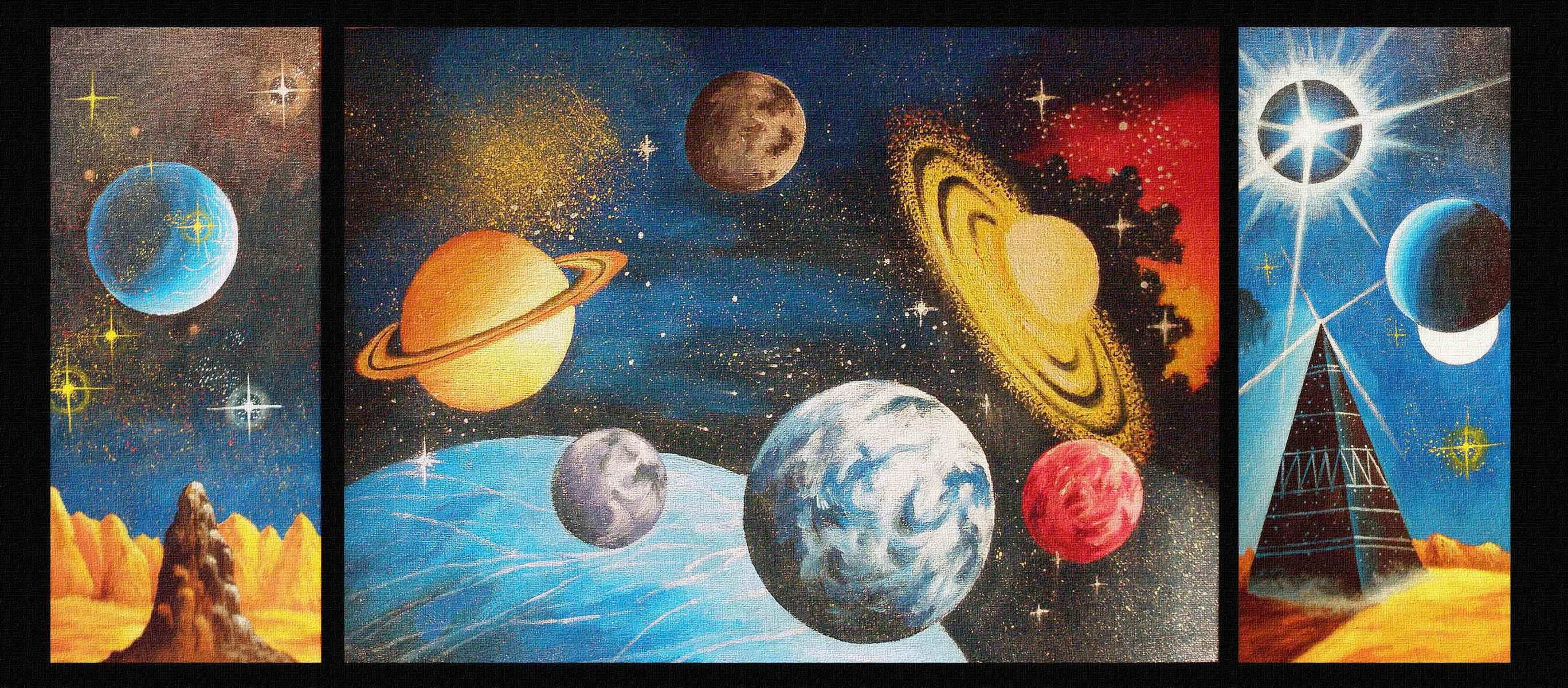 Вышивка на тему космоса