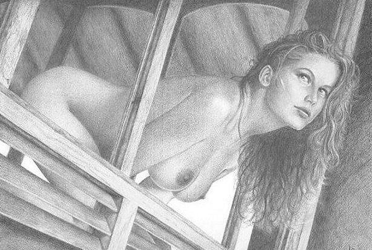 Простые эротические рисунки девушек карандашом 13 фотография