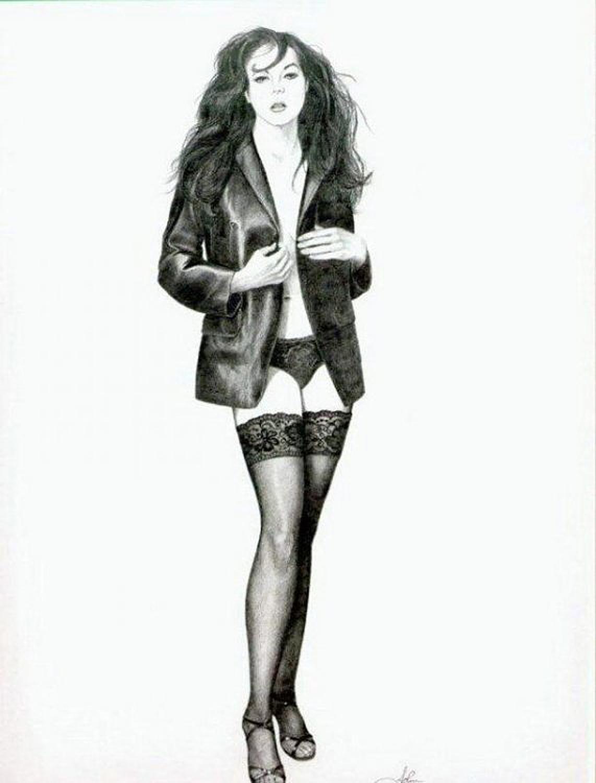 Классные рисунки девушек карандашом (21 Фото) 16+. Бонусные картинки.