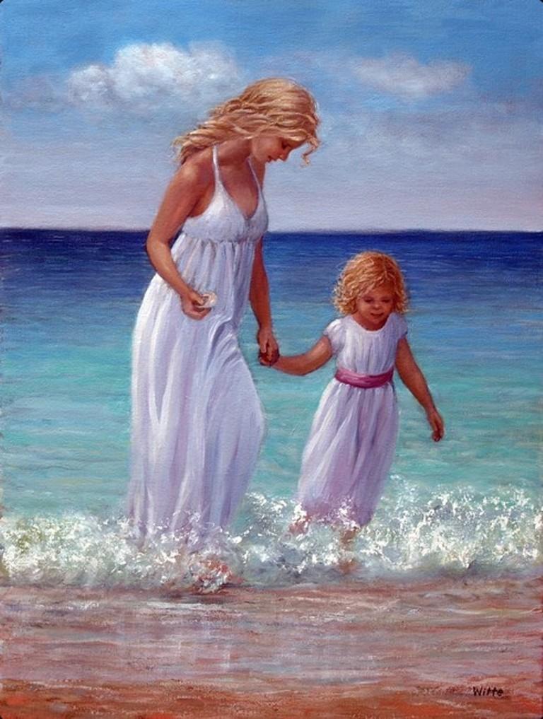 Мама и дочка открытки