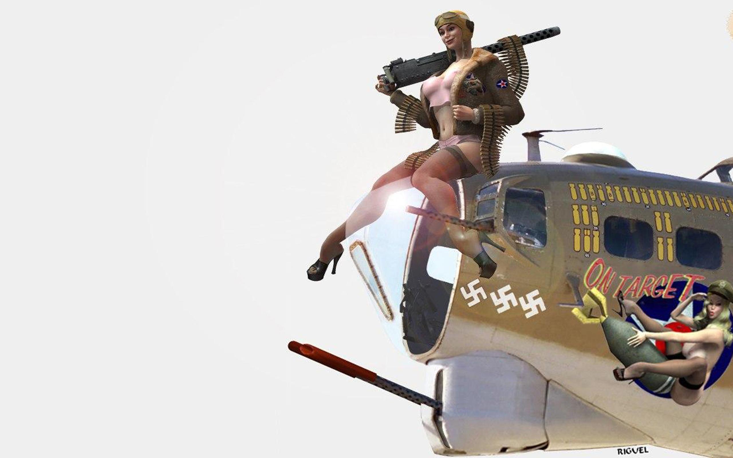 Рисованные девушки в военной 17 фотография