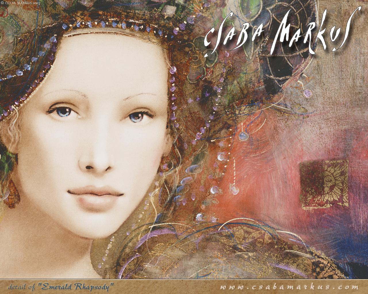 Художник CSABA MARKUS. Вселенную, манящую, умело, Богиню-Женщину он рисовал