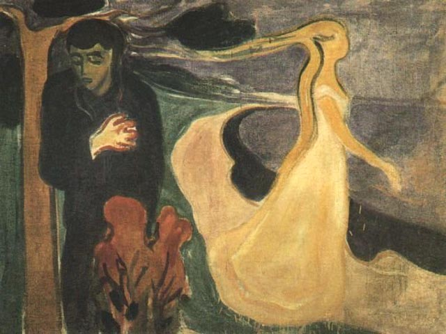 the definition of uncanny in the storm a painting by edvard munch