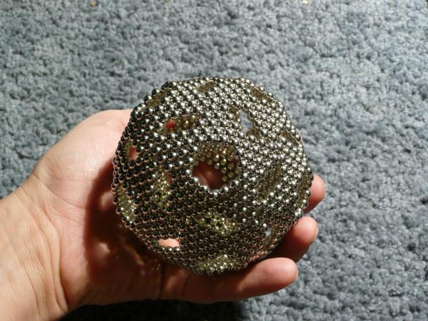 Как сделать шар из неокуба 216 шариков