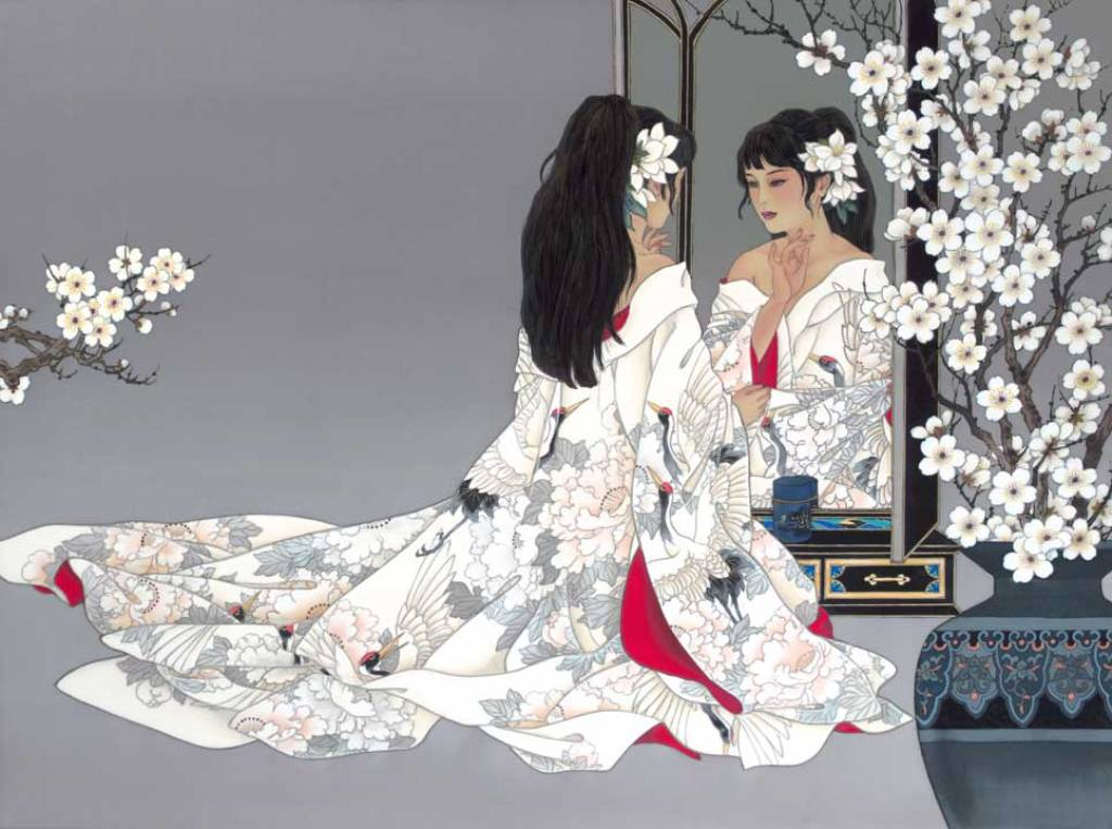 Поздравления женщин японцем
