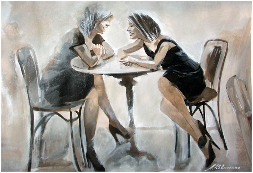 картинки художников подруги