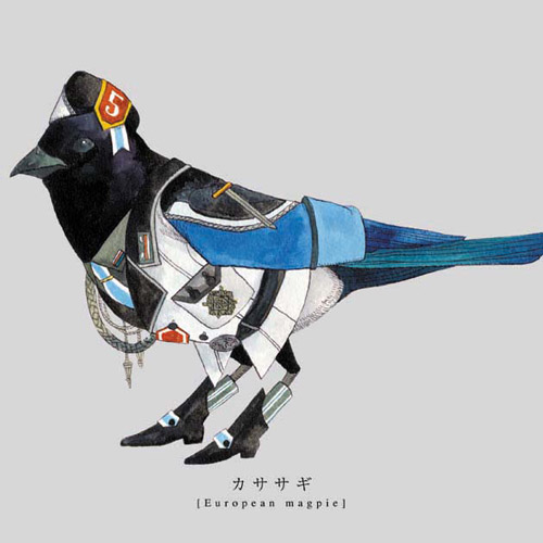 """Torigun"", birds dressed in military uniforms by Japanese artist Sato (13 работ)"