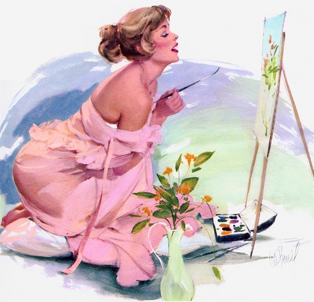 На чем художники рисуют открытки 261