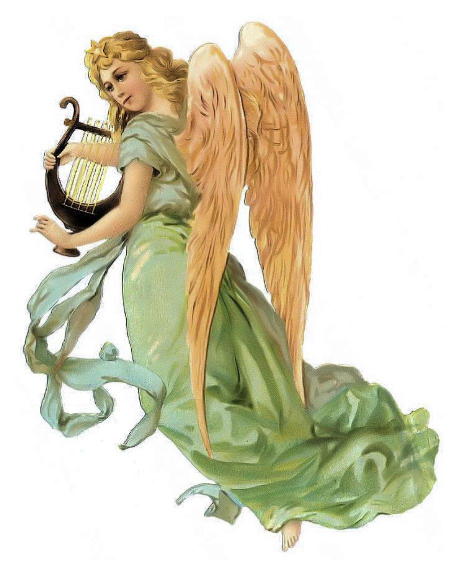 ангелы с арфами картинки розария