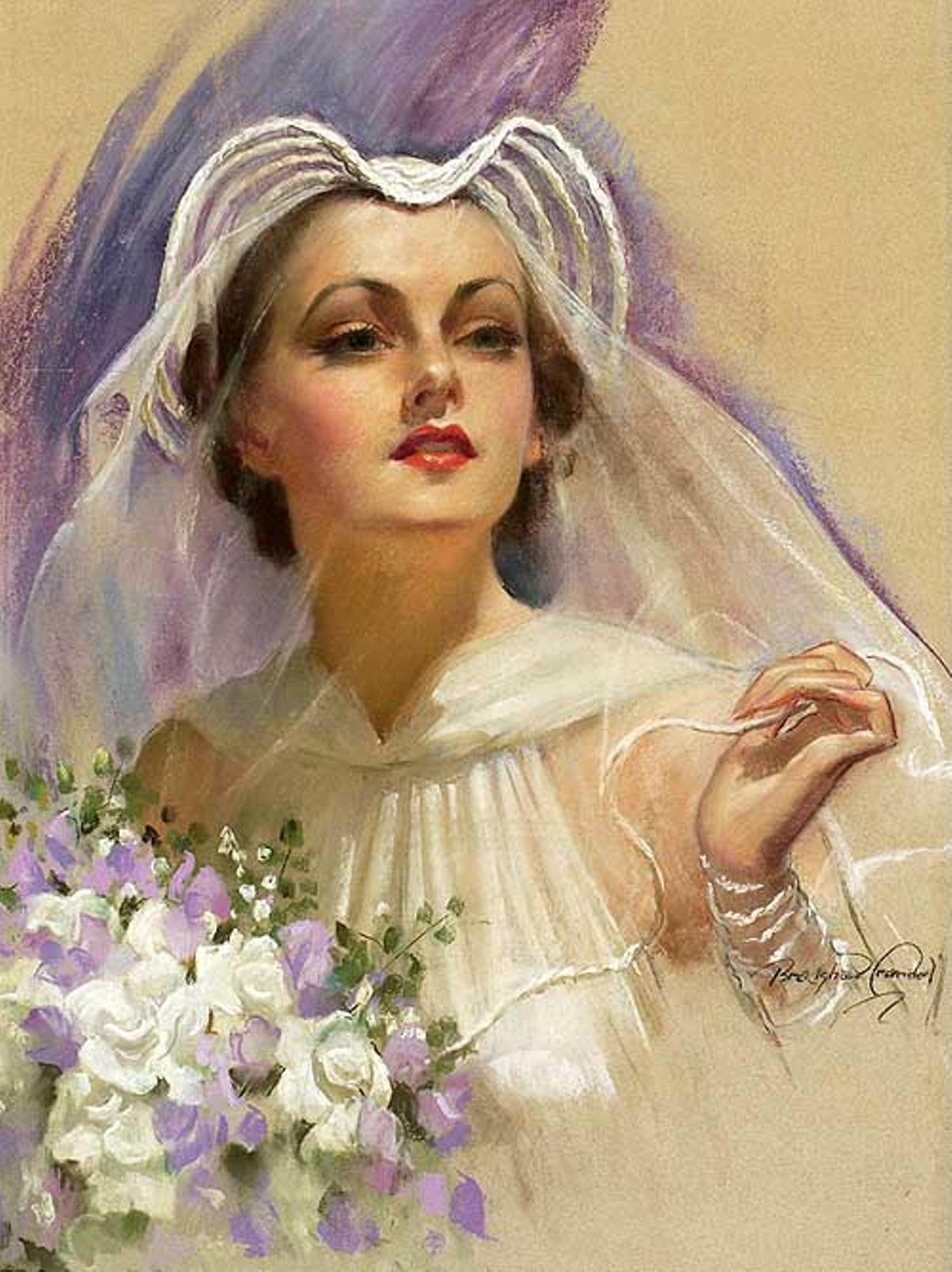 Открытка прекрасная дама