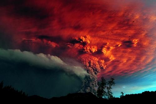 Фото вулкана Пуйеуэ (Puyehue) (15 фото)